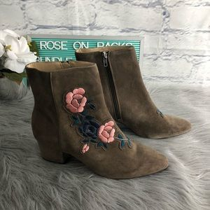 Steven by SteveMadden Brooker Floral Taupe Booties
